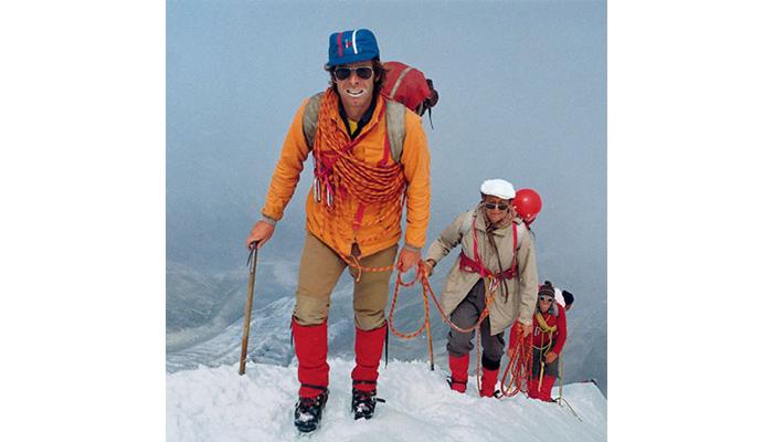 Günter Sturm als Leiter einer Expedition.