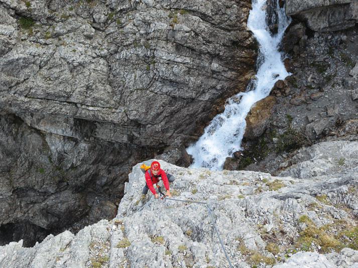 Klettersteig Oostenrijk : Hanauer klettersteig hüttensteig in den lechtaler alpen