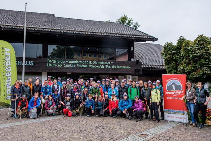 Die Teilnehmer des Bergsteiger Wandertags 2018