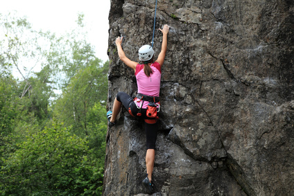 Wer Klettern möchte, braucht neben der richtigen Technik auch eine Menge Mut