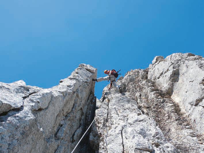 Der Klettersteig am Alberfeldkogel verläuft in äußerst alpinem Gelände.