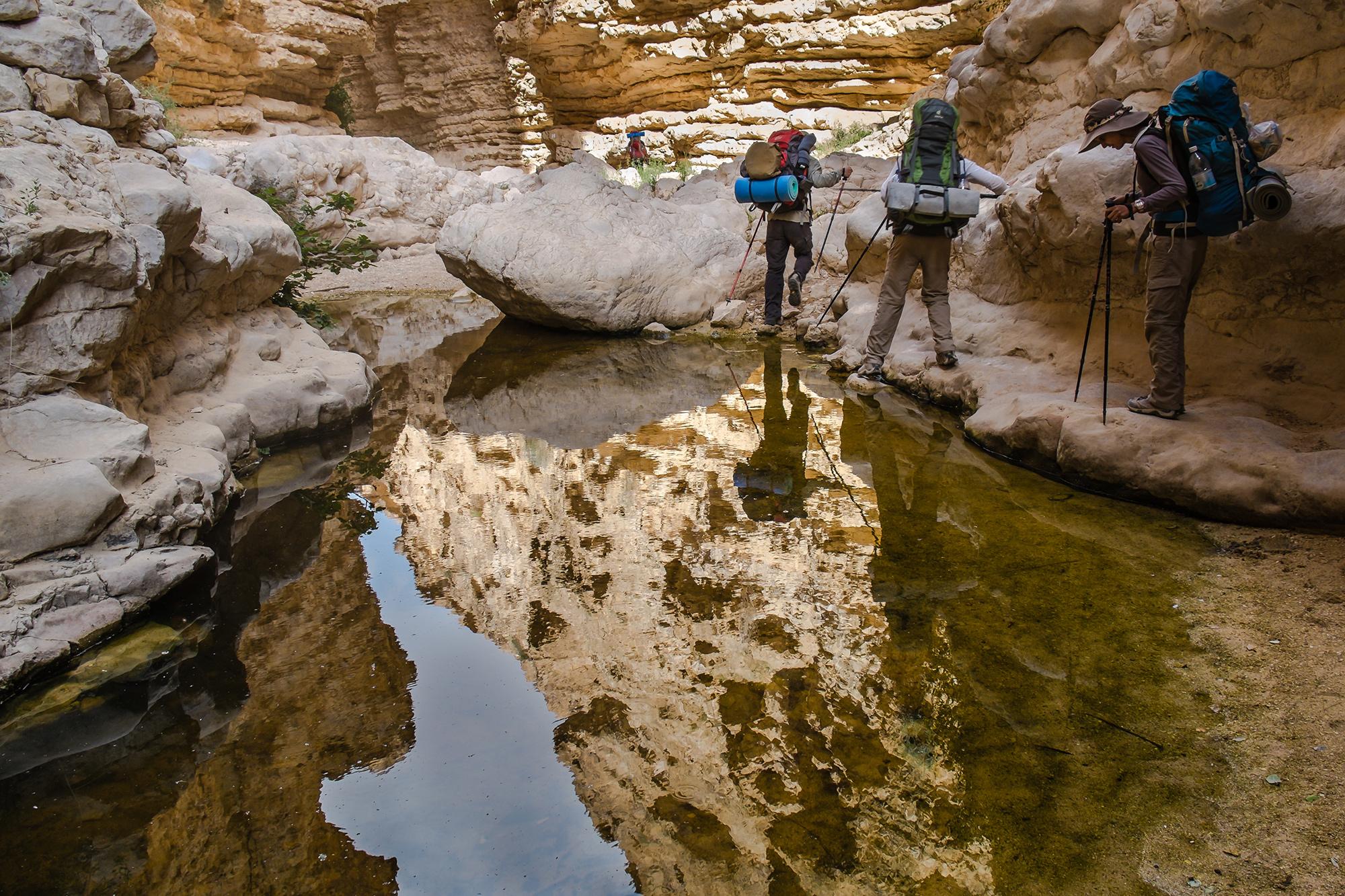 Im Nahal Hava Canyon: Wasser in der Wüste ist eine willkommene Ausnahme.