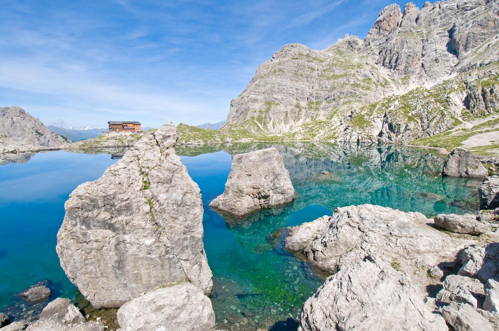 Die Karlsbader Hütte in den Lienzer Dolomiten