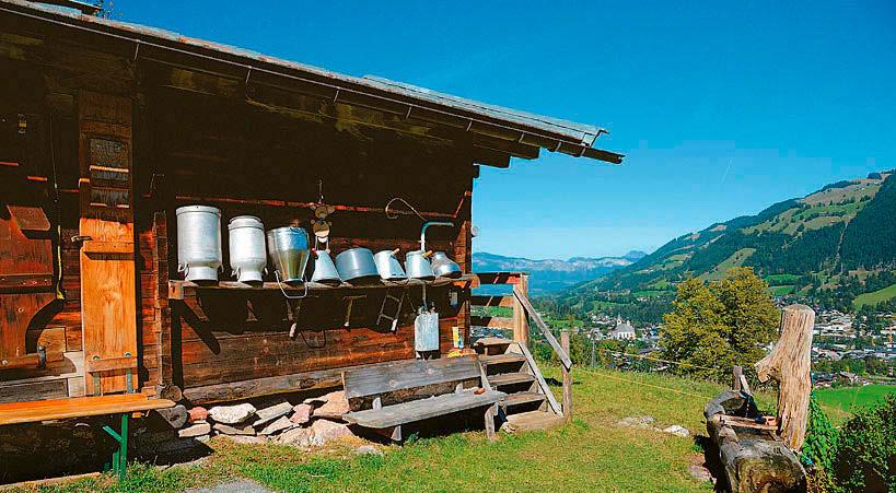 Alte Almen auf dem Hahnenkamm in Kitzbühel