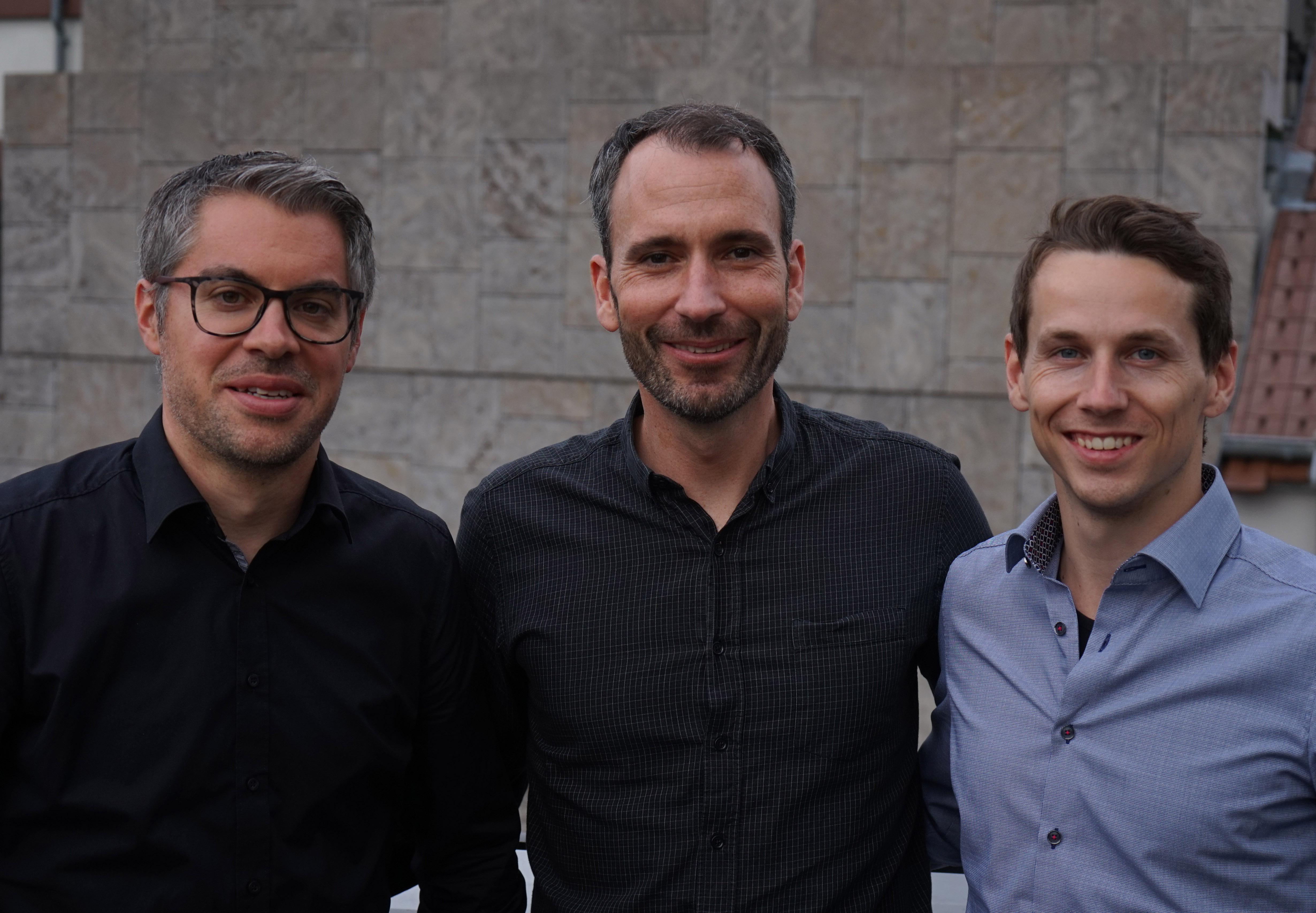 (v.l.n.r.) Michael Frank, Alexander Nicolai, Michael Schüppel