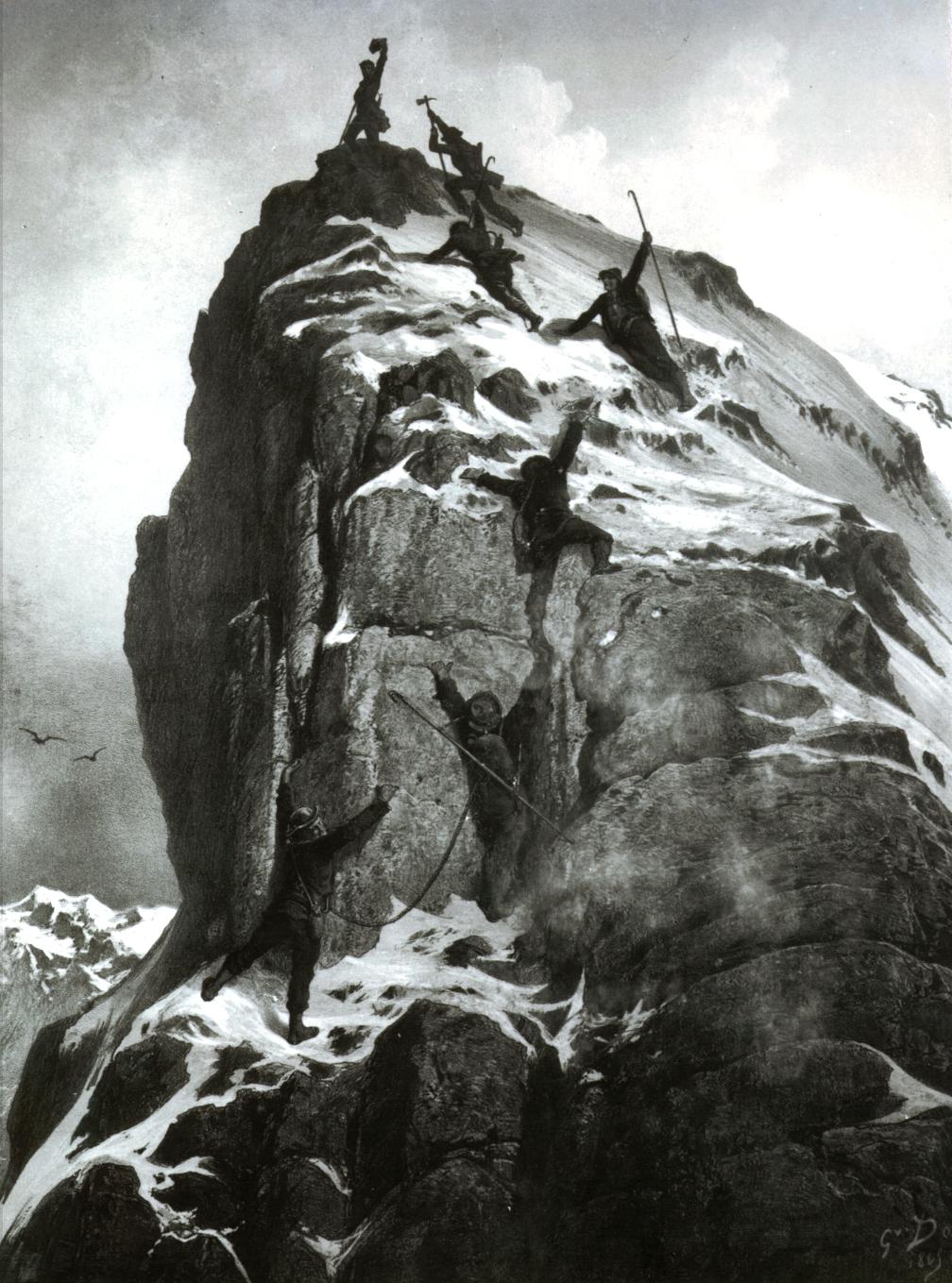 Noch wird gejubelt: Matterhorn, 14. Juli 1865