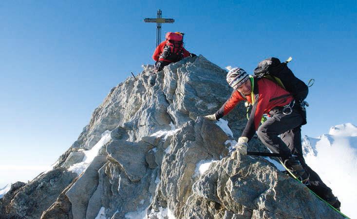 Schönwetterberg: Der Weg zum Nadelhorn wird erst bei Eis und Wind schwierig.