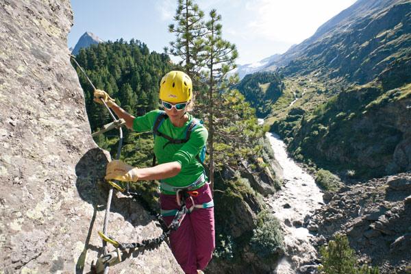 Klettersteig Oetztal : Stuibenfall klettersteig b c Ötztal umhausen klettersteige