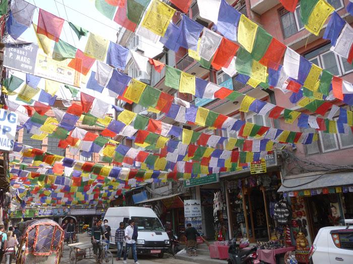 Straßenszene in Thamel, Kathmandu