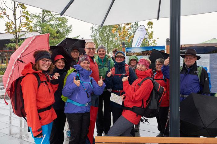 Trotz Regen gute Laune beim Bergsteiger Wandertag 2019