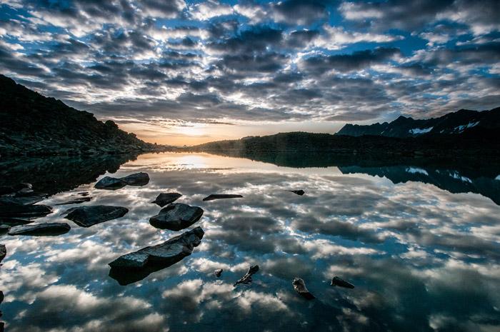 Das Stubaital, wie hier am Rinnensee, bietet tolle Foto-Bedingungen.