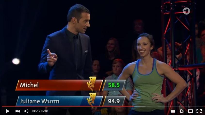 Juliane Wurm mit Kai Pflaume in der ARD-Show