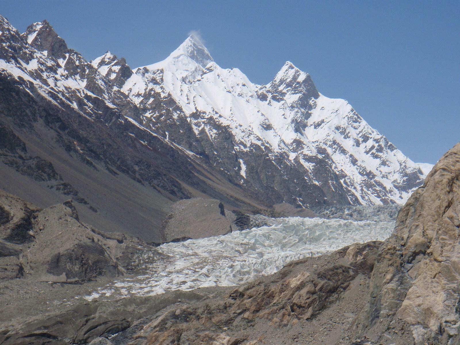 Erst zwei Mal bestiegen: Der Shispare Sar (7611 m) in Pakistan.