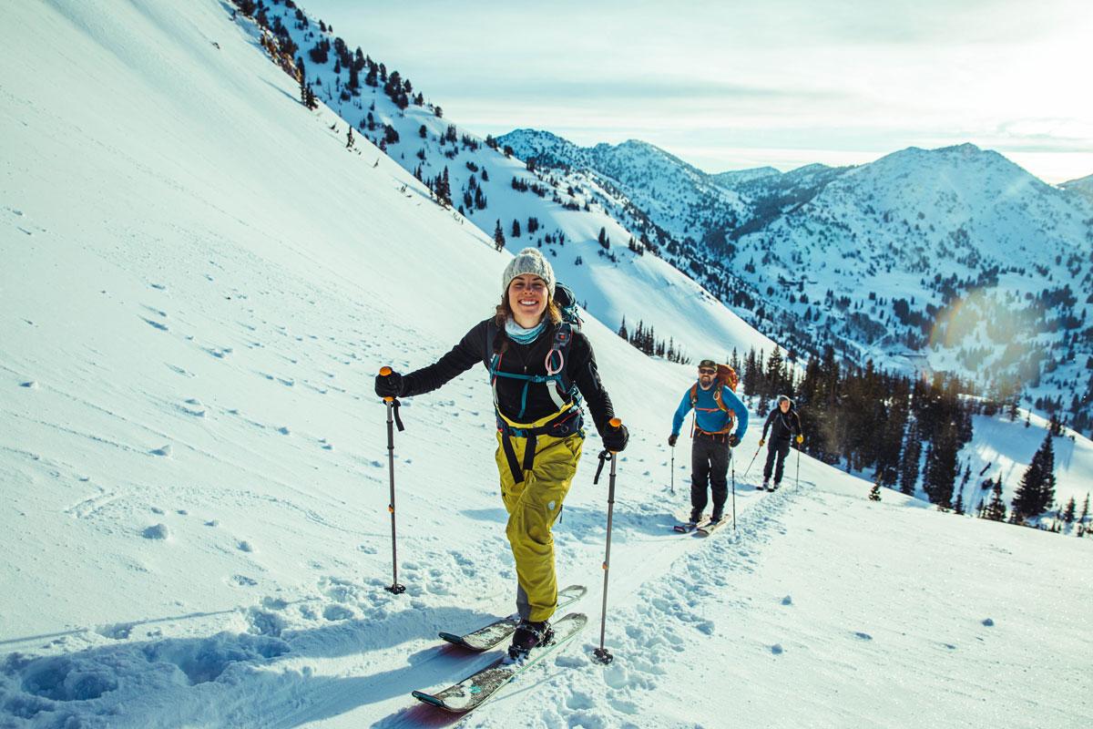 Eine Gruppe Skitourengeher