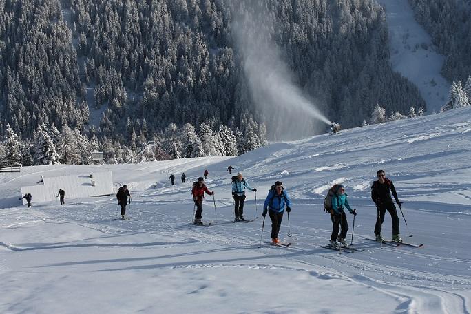 Skibergsteigen, besonders Pistengehen, boomt.