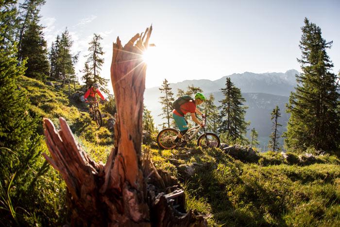 Im Salzburger Saalachtal finden Mountainbiker naturbelassene Trails, die Spaß machen.