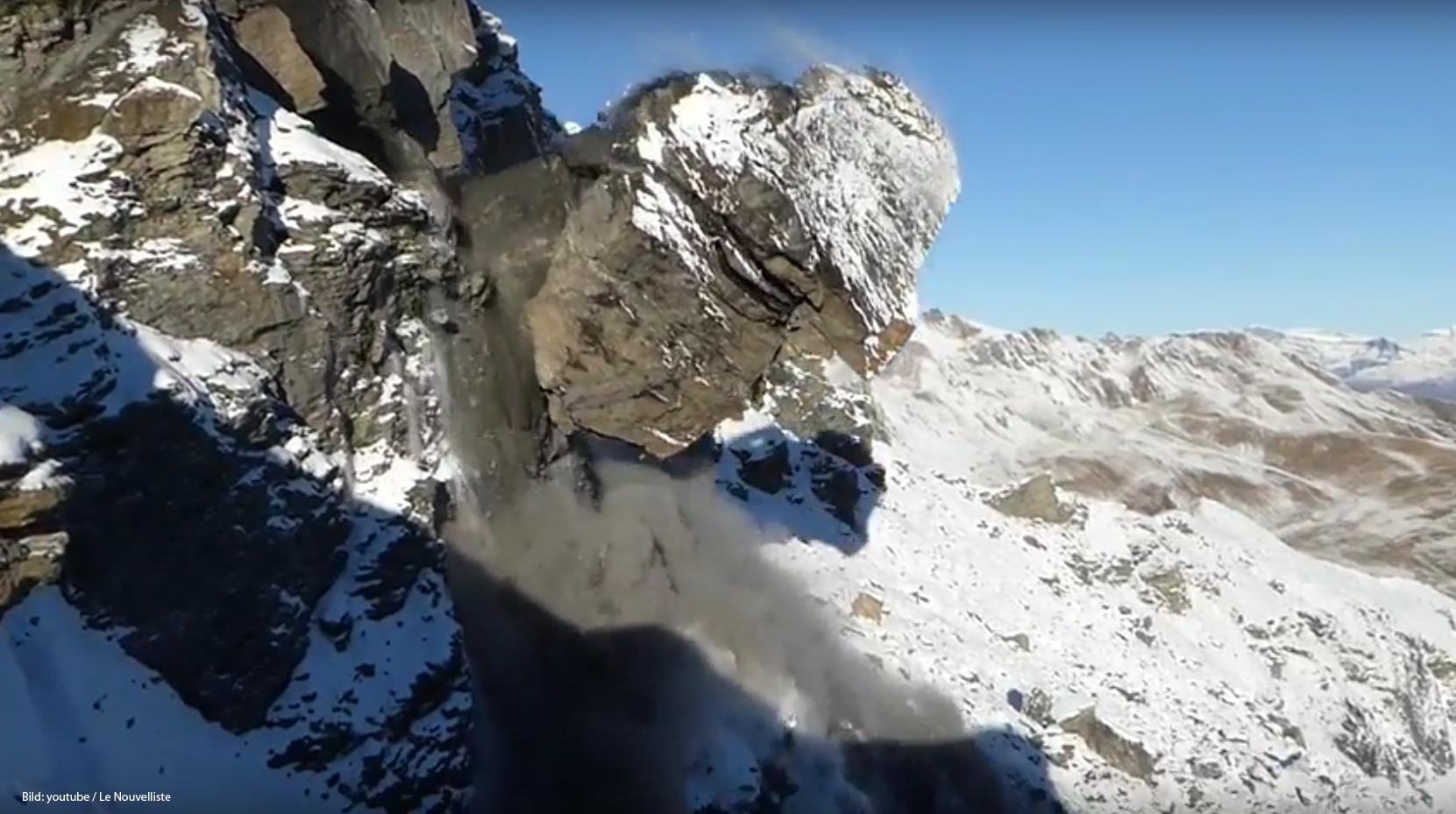 Fast 2000 Kubikmeter Fels sind in der Schweiz abgegangen.