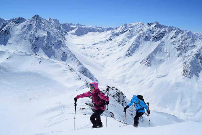 Traumhafter Ausblick beim Aufstieg zum Gleirscher Rosskogel