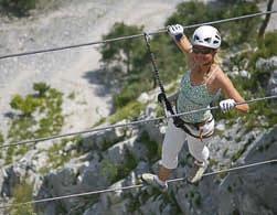 Klettersteigset Bandschlinge Einbinden : Klettersteigsets