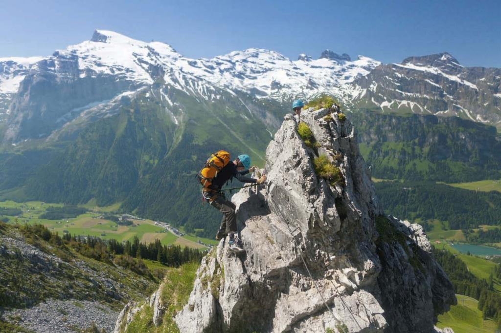 Klettersteig Für Kinder : Klettersteig paradies engelberg bergsteiger magazin