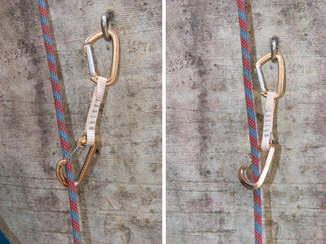 Klettersteigset Richtig Einhängen : Richtig klippen beim klettern bergsteiger magazin
