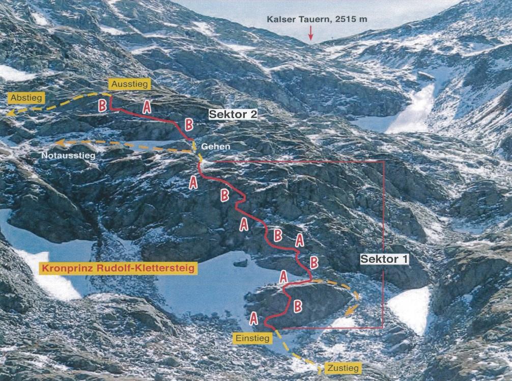 Klettersteig Map : Neuer familien klettersteig am weißsee bergsteiger magazin