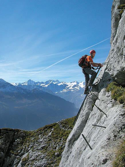 1993 wurde der Tälli als erster Schweizer Klettersteig gebaut.
