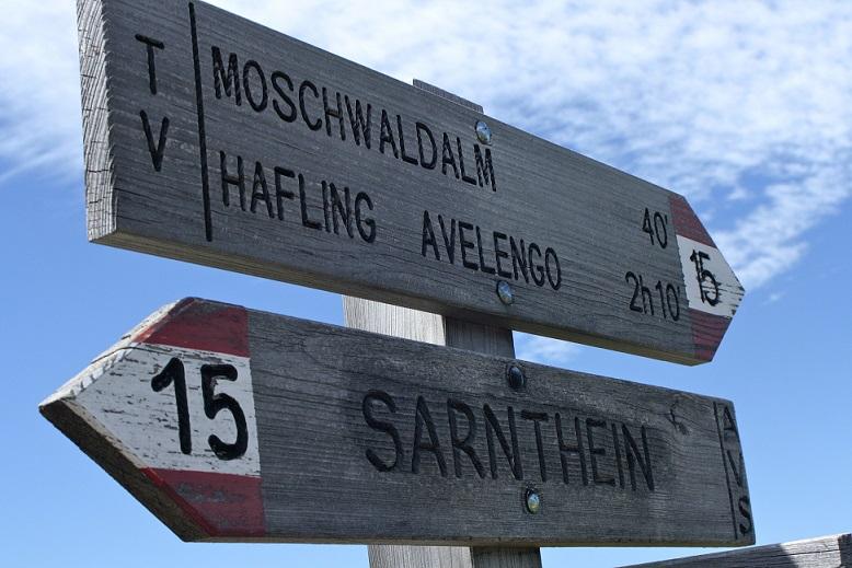 Rund um Meran gibt es eine Vielzahl an Wanderungen. Zum Beispiel nach Hafling