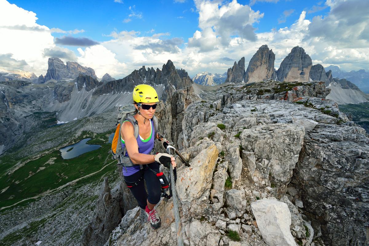 Toblinger Knoten Klettersteig