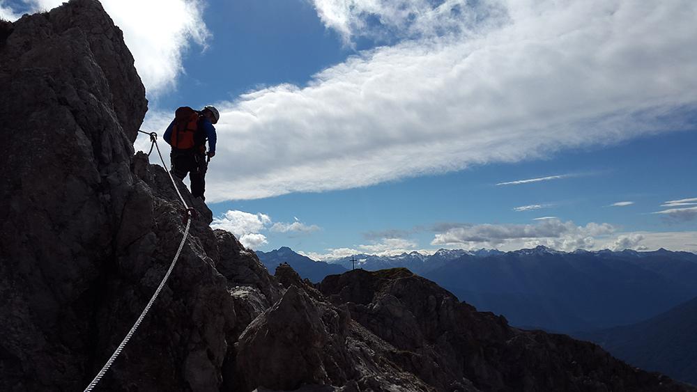 Der Klettersteig über die Wankspitze ist eine schöne Herbsttour