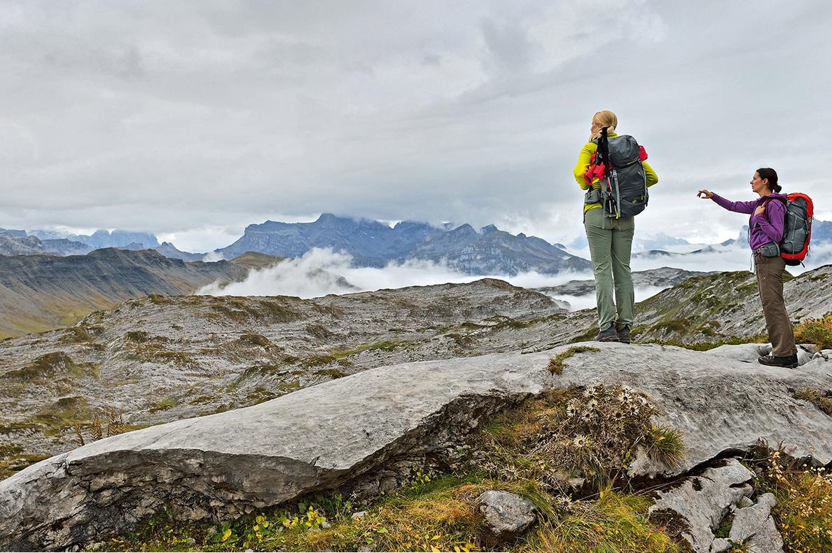 Bei Sonnenschein kann's jeder. Auch unbeständiges Wetter taugt für Bergausflüge – wenn man sich gut informiert hat.